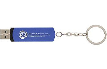EZ-SWIVEL FLASH DRIVE KEY CHAIN 2GB