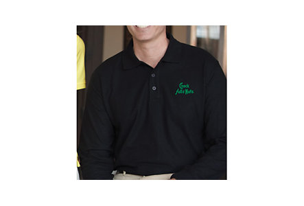 Long Sleeve Double Tuck Pique Polo