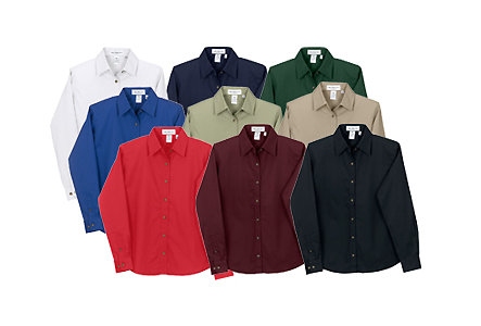 Button Down Wrinkle Resistant-Women