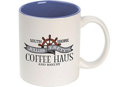 custom ceramic color accent mug