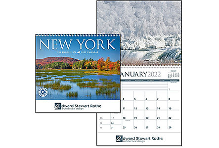 New York Wall Calendar Spiral