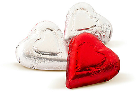 Bag Of 3 Belgian Chocolate Hearts