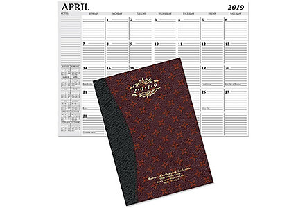 Monroe Monthly Planner Gold Imprint