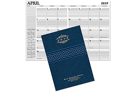 Jefferson Monthly Planner Gold Imp.