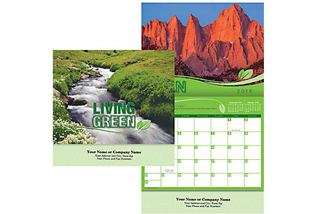Living Green Calendar -Stapled