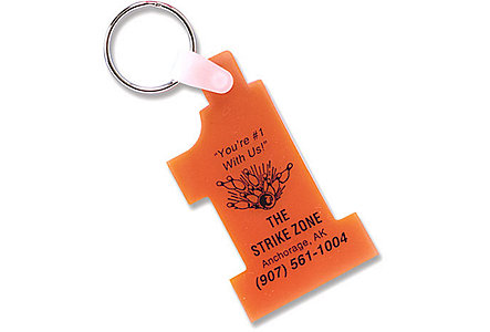 Sof-Touch Number One Key Tag
