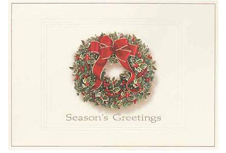 Seasons Greetings Wreath Card