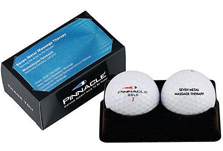 golf ball business card pack