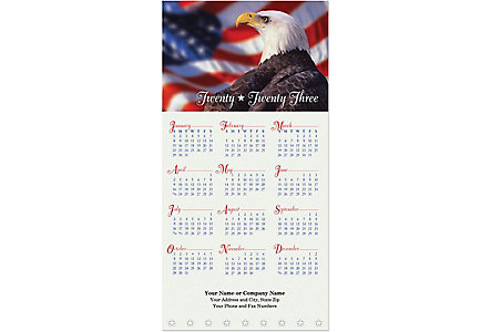 Patriotic Greeting Card Calendar