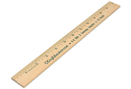 Natural Finish 12 Inch Ruler