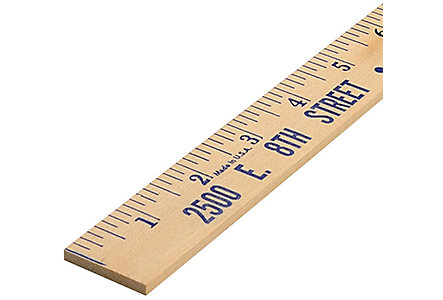Natural Finish Wooden Yardstick
