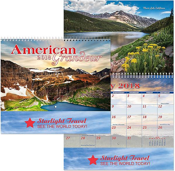 american grandeur wall calendar