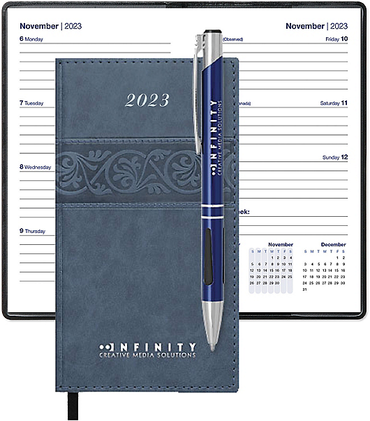 imprinted nouveau calendar gift set