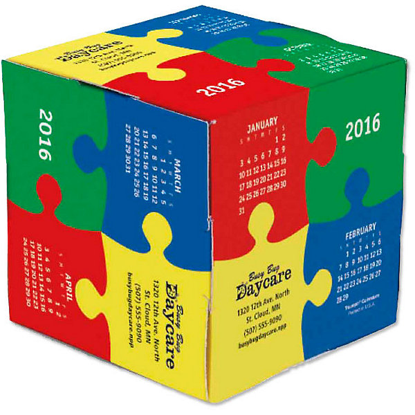 fun shapes puzzle cube calendar