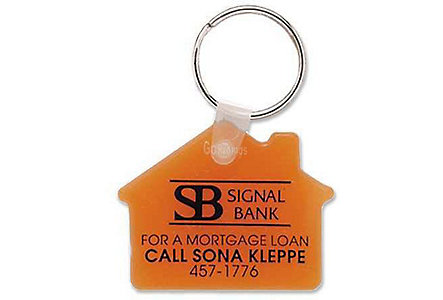 Soft Touch House Key Tag