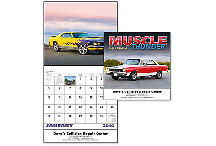 Muscle Thunder Wall Calendar Stitch