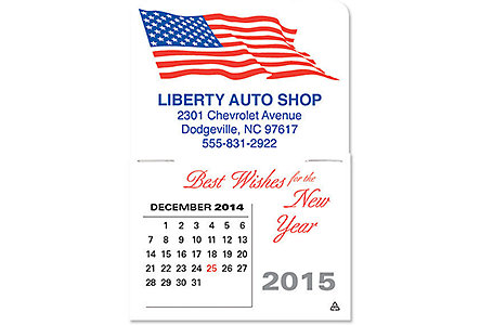 Patriotic Stick Up Calendar