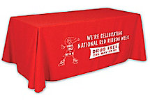 Trade Show Table Throw 6' 1 Col Imp