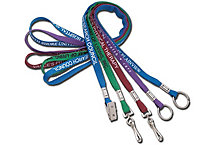 "3/8"" One Ply Cotton Lanyards"