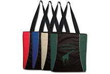 Upscale Two Tone Tote Embroidered