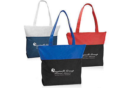 Poly Pro Two Tone Zippered Tote