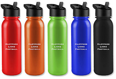 Metalike Bottle W/Flip Straw 24 Oz.