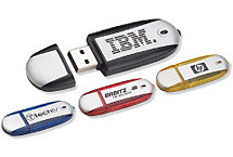 Oval 1Gb Usb Flash Drive