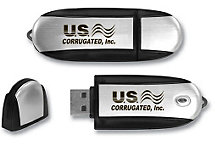 Oval 2 Tone Usb 2Gb Flash Drive