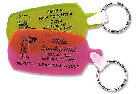 Soft Dog Tag Key Tag