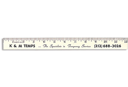 Wooden Ruler 12 Inch Natural Finish