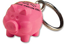 Acrylic Pig Key Chain
