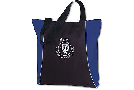 Nurses Blue Vertical Two Tone Tote