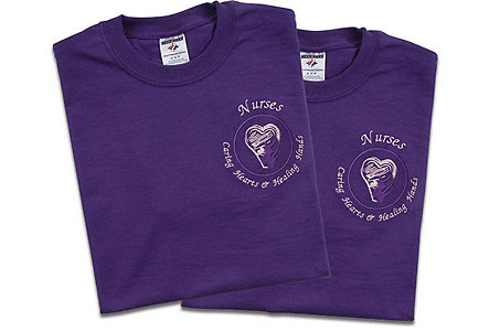 Nurses Purple T-Shirt - Xlarge