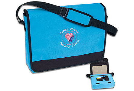 Caring Hearts Skyblue Messenger Bag