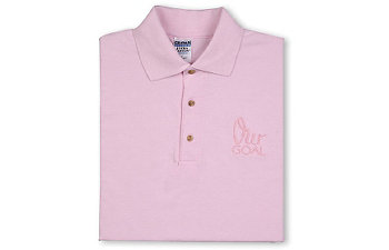 OUR GOAL PINK POLO SHIRT-LARGE