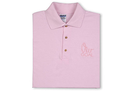 Our Goal Pink Polo Shirt-Medium
