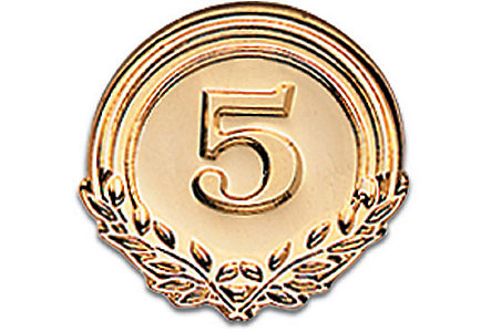 Five Years Of Service - Goldtone