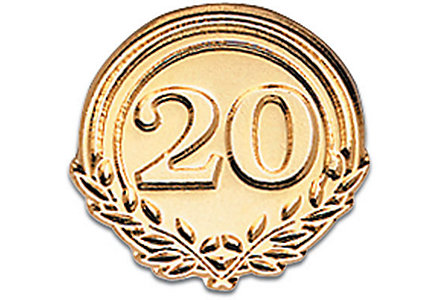 Twenty Years Of Service - Goldtone