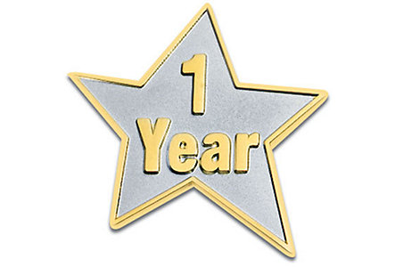 1 Year Star Lapel Pin