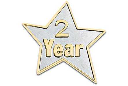 2 Year Star Lapel Pin