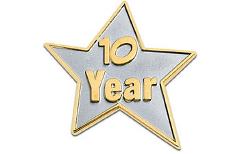 10 YR STAR SERVICE AWARD PIN