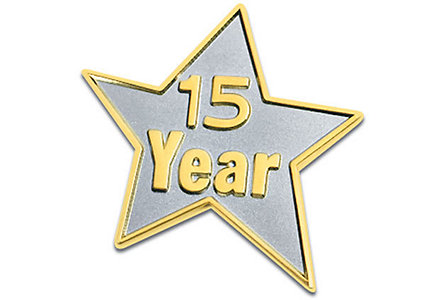 15 Year Star Lapel Pin