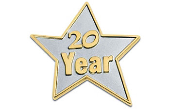 20 Year Star Lapel Pin