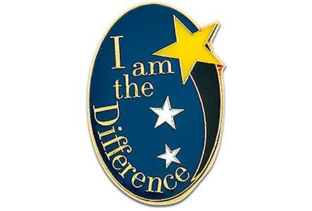 I Am The Difference Lapel Pin
