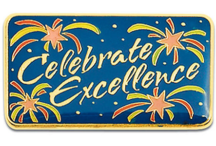 Celebrate Excellence Lapel Pin