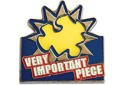 Very Important Piece Lapel Pin