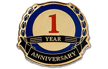 1 Year Anniversary Lapel Pin