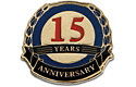 15  Years Anniversary Lapel Pin