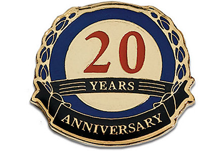 20  Years Anniversary Lapel Pin