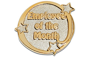 Employee of the Month Two-Tone Pin
